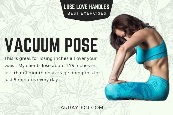 Vacuum Pose - This is great for losing inches all over your waist