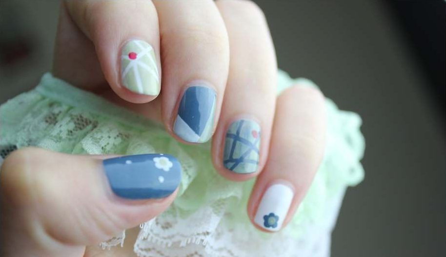 solar nails designs pictures