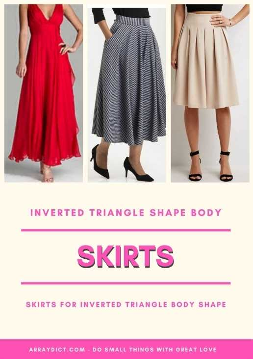 Dresses and skirts for triangle shape body