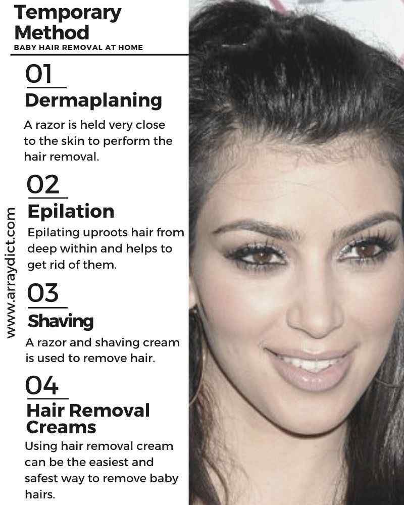 Baby Hair Removal Using a Temporary Method